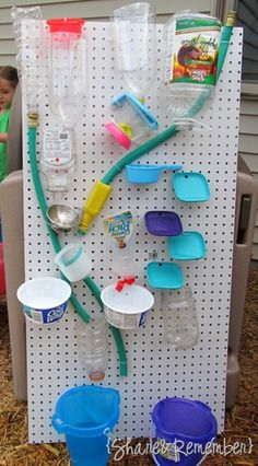 This water board is great! It may take some effort to make but I think it would be great for the kids to work with. They could use this to try and figure out where the water will end up and just have fun with it! Plus, all the materials used are recyclable.