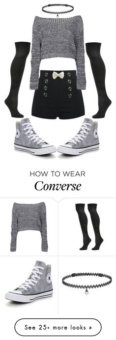 """""""Untitled #30"""" by miragrace on Polyvore featuring Steve Madden, BERRICLE, Boohoo and Converse"""