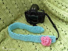 Cute crocheted camera strap