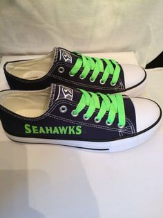 Hey, I found this really awesome Etsy listing at https://www.etsy.com/listing/209774150/seattle-seahawks-womens-tennis-shoes