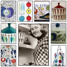 Rorstrand designer Marianne Westman, 1950s http://www.pinterest.com/PernarisBerg/made-in-hollywood/ & http://www.pinterest.com/FrancesFib/collectingr%C3%B6rstrand/