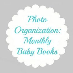 Photo organization ideas: monthly-baby-books by krystalskitsch, via Flickr