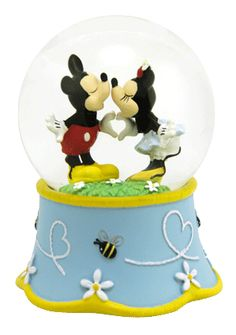 Mickey Mouse and Minnie Love and Kisses snow globe from snowdomes.com