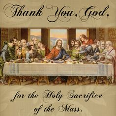 Thank You, God, for the Holy Sacrifice of the Mass. #DaughtersofMaryPress #DaughtersofMary