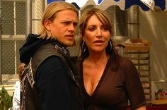 Sons of Anarchy. I can see me & my son Alex in Jax & Gemma. Funny thing is.....I saw me in her as Peg Bundy too....!!!!