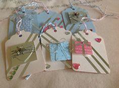 Set of 6 Gift tags by OldNewBorrowedPurple on Etsy, £3.75