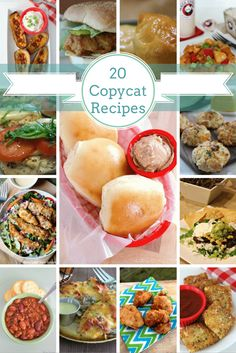 20 Must-Try Copycat Recipes! -All She Cooks- You will LOVE this list of 20 Must-Try Copycat Recipes! You'll find Red Lobster copycat recipes, Chick-Fil-A copycat recipes, Outback Steakhouse copycat recipes, Wendy's copycat recipes, and so many more. Dog Recipes, Cooking Recipes, Fall Recipes, What's Cooking, Chicken Recipes, Recipies, Copycat Soup Recipe, Copykat Recipes, Applebees Recipes