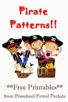 {FREE} Pirate Patterns Preschool Packet | Preschool Powol Packets