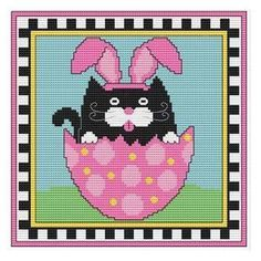 http://www.everythingcrossstitch.com/easter-tuxedo-art-cat-mrp-p44724.aspx?k2=e1 #DMC #Threads #crossStitch #etamin #embroidery #fabric #decorate #pattern #ornament