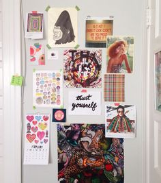 """""""Morning light studio wall. These tings make me happy."""""""
