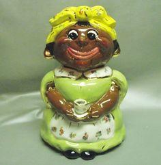 Cookie jar Tea Cup Mammy Shirley Corl