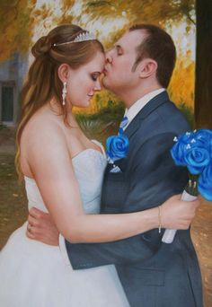 Wedding Painters Will Turn Your Wedding Photo Into a Beautiful Painting. The Best Way To Preserve Your Wedding Memories! Wedding Art, Wedding Couples, Wedding Portraits, Wedding Photos, Couple Painting, Wedding Anniversary Gifts, Pin, Beautiful Hands, Funeral