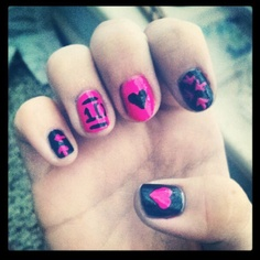 nails getting my nails done like this saturaday! One Direction Crafts, One Direction Nails, Cute Nail Art, Cute Nails, Pretty Nails, Nail Tips, Nail Ideas, Band Nails, Fabulous Nails