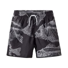 Our Black Fish Swim Trunks is a Stella Cove exclusive print! More beachwear for boys styles! Teen Boys, Toddler Boys, Fashion 2017, Boy Fashion, Black Beachwear, Boys Swim Trunks, Boys Swimwear, Fish Swimming, Mens Boardshorts
