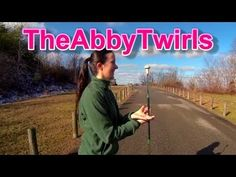 Learn how to do this cool novice baton twirling move: Two Hand Front Spin!!