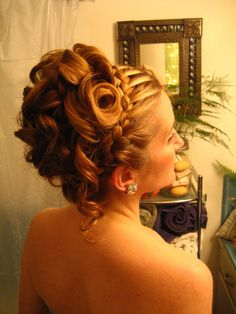 Pretty! would go really great for your wedding day with little white flowers inside the hair