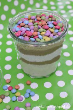 ♥ Zuckersüße Äpfel ♥: Smarties-Cookies im Glas, ein tolles Geschenk