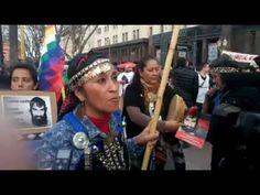 Emocionado pedido de Moira Millán en la Marcha por Santiago Maldonado