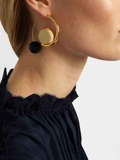 Sphere-drop hoop earrings | Marni | MATCHESFASHION.COM