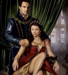 """Jonathan Rhys Meyers as King Henry VIII Natalie Dormer as Queen Anne Boleyn in """"The Tudors"""". This was a publicity shot for a contest to meet the cast the costumes were not standard to the period. Jonathan Rhys Meyers, Enrique Viii, Los Tudor, Disneysea Tokyo, Michael Weatherly, Kino Film, Outlaw Queen, King Henry Viii, Madame"""