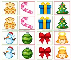 ★..Dulces Momentos..★: Memorama Navidad!! Animal Crafts For Kids, Christmas Activities For Kids, Winter Crafts For Kids, Preschool Christmas, Craft Activities, Preschool Crafts, Preschool Education, Winter Theme, Christmas Pictures