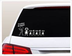 single mom car decal position open window sticker funny stick figure family husband position avail - Single Mom Funny - Ideas of Single Mom Funny - single mom car decal position open window sticker funny stick figure family husband position avail Window Stickers, Window Decals, Car Decals, Vinyl Decals, Funny Stick Figures, Family Car Stickers, Stick Figure Family, Digital Tablet, Wishes For You