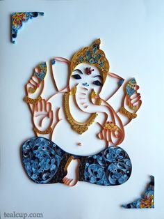 tealcup quilling gallery - Ganesha 1