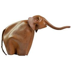 Leather Elephant with Good Luck by Deru