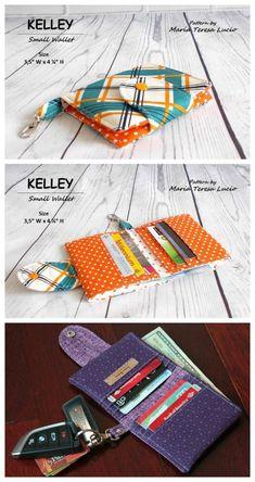 Se você acabou de começar a costurar, então o padrão KELLY Small Wallet PDF é o tutorial perfeito para iniciantes.  Há instruções abrangentes, juntamente com muitas fotos para ajudá-lo a fazer uma grande carteira pequena.  A carteira é unissex, portanto, pode ser usada por mulheres ou homens, e se você gosta delas, você pode dar-lhes como presentes ou mesmo fazer algumas para vender.
