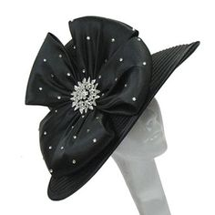 9d9733725ec Whittall   Shon Teardrop-Brim Bow Hat · Kentucky Derby Hats
