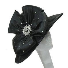 6744ff16145 Whittall   Shon Teardrop-Brim Bow Hat. Kentucky Derby Hats
