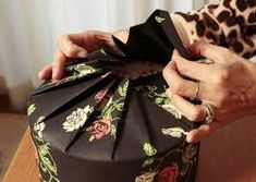 Japanese diy wrapping gift -pleated round wrap