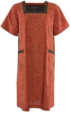Gudrun Sjödéns Herbstkollektion 2014 - Kleid Masala aus Öko-Baumwolle in hagebutte