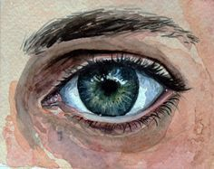 How to paint an eye with watercolor.