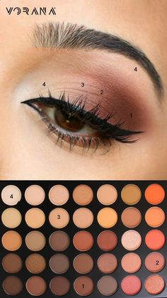 Natural Makeup Estas sombras quedarán perfecto con los ojos tonos café. ¿Qué esperas para probarlas? #Sombras #Morphe #35O - You only need to know some tricks to achieve a perfect image in a short time.