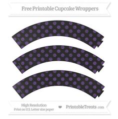 Free Royal Purple Dotted Pattern Chalk Style Cupcake Wrappers---HAS MANY COLORS---- http://www.printabletreats.com/page/291/?s&colorOptions&categoryOptions=Cupcake+Wrappers