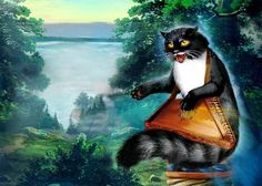 In Slavic mythology, the cat - is an independent and freedom-loving. Cat was not attached to anything as she lives for her own pleasure. Slavic Hero Tales - Cat - Baiyun drives away evil spirits. Cats on the contrary like coziness and are more attached to the home than to the owner.