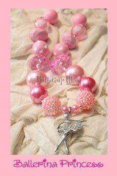Little Girls Chunky Bubblegum Beaded Necklace  by ButtercupBling, $20.00...... Click on picture to go to  ETSY Shop.