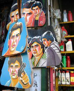 Bollywood rickshaw mudflaps. By Meanest Indian (Meena Kadri).