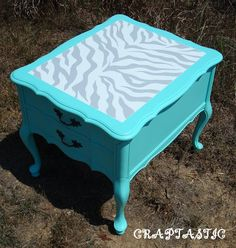 How to zebra print your furniture instructions