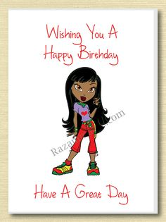 Happy birthday woman relaxing in a tub drinking wine on birthday african american girl birthday card b m4hsunfo