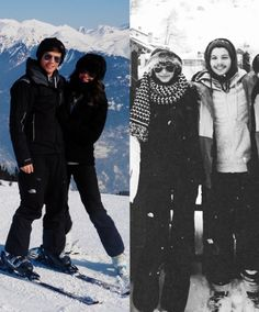 Louis and Eleanor skiing: Then and Now. Excuse me while I go cry. They are adorable.