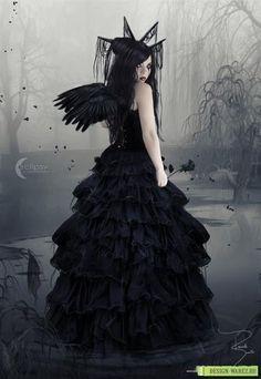 Короткие стихи о девушке в черном платье