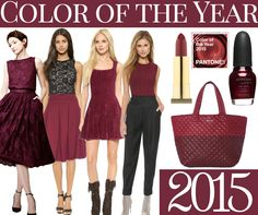 "One of the trends we always like to look out for is the Pantone fashion color of the year.   This is ""Marsala"" and I love it!"