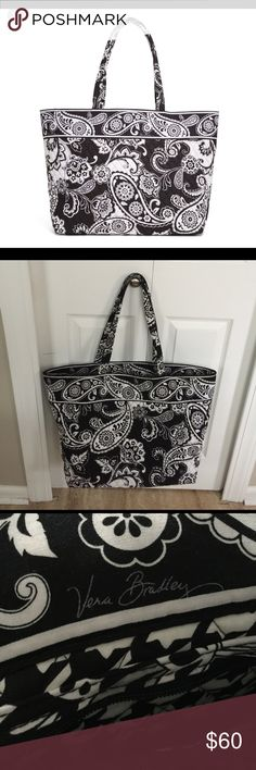 Vera Bradley Tote Gently used, Vera Bradley Midnight Paisley Grand Tote. Tote has small inside zip pocket. Bag is in great condition and comes from a smoke free home - open to reasonable offers. Vera Bradley Bags Totes