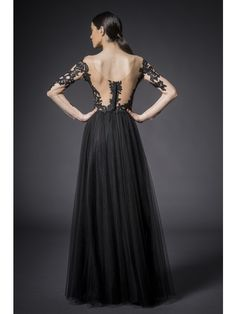 SEE THROUGH TULLE AND LACE DRESS