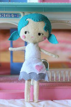 Pippa Softie Felt Doll 23cm - by Joyfoolery on madeit