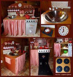 DIY play kitchen / Cocinita de juguete / Spielküche
