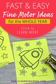 Kids love these hole punch activities. Use the printables to build fine motor skills, for hand strengthening, and to improve hand-eye coordination in a fun and exciting way. Perfect for your preschool, pre-k, kindergarten, special education, occupational therapy classroom, or at home. The printables include shapes and many themes and seasonal printables to use during spring, summer, winter, and fall. Counting Activities, Sensory Activities, Literacy Activities, Pre Writing, Writing Skills, Plastic Pencil Box, Kids Punch, Printable Shapes, Paper Chains