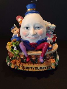 Hand-painted music box Punch And Judy, Learn To Fly, Humpty Dumpty, Mother Goose, Paper Clay, Fairy Art, Beautiful Hands, Alice In Wonderland, Art Dolls